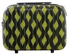 Hartschalen Reise Beautycase Handgepäck Motiv Retro Waves Yellow Gr. S