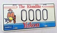"YUKON MINT SAMPLE LICENSE PLATE "" 0000 "" THE KLONDIKE  MIDNIGHT SUN GOLD MINER"