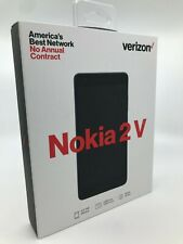 New Verizon Wireless Nokia 2V Prepaid Smartphone Black Free Shipping!