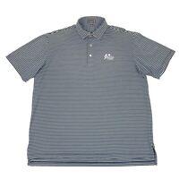Peter Millar Summer Comfort Striped Golf Polo Shirt Size XL Greenbrier Classic