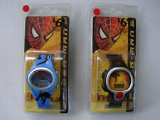 2 DIFFERENT SPIDER MAN 2 KIDS WRIST WATCH (2004) MINT AND SEALED MARVEL COMICS