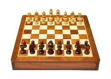 Wooden Chess Set with Magnatic Board and Hand Carved Chess Pieces | 10 X 10 Inch
