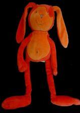 Doudou Lapin MARESE Rouge Orange NEUF