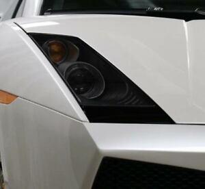 Lamborghini Gallardo Smoked TINT Headlight Blackout Lens Pre Cut Decal Overlay