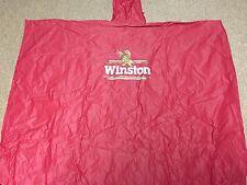 Huge Winston Red Rain Poncho Jacket Tobacco Nascar Cup Racing Race Hooded