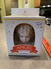 Vintage 1991 Fibre Craft Porcelain Angel Doll Head Hands Set Molded Hair
