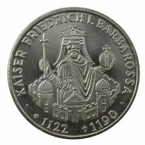 GERMANY-Deutschland 10 Marks Silver coin Mint 1990 famous Emperor