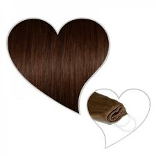 EASY FLIP Extensions in SCHOKOBRAUN #04 60 cm 130 grammi capelli reale in Your Hair Secret