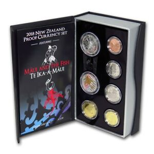 New Zealand - 2018- Silver Proof Coin Set - Maui and the Fish