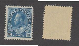 MNH Canada 10c Light Blue KGV Admiral Stamp Wet Printing #117ii (Lot #20108)