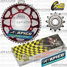 Regina 520 RH Chain Apico Sprocket Set 12T 52T Rear Red For Honda CRF 250R 2010