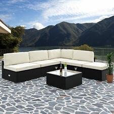 Poly Rattan Lounge Set Aluminium Sitzgruppe Gartenmöbel Garten Loungemöbel Couch