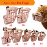 Pet Dog Muzzle Mouth Mesh Mask Cover Basket No Barking Chewing Biting Beige 1Pcs