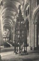 1910's VINTAGE POSTCARD - THE FONT in DURHAM CATHEDRAL - NORMAN ARCHITECTURE
