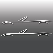 2x Sports Car Outline Car Vinyl Decal Sticker | JDM | Japenese | Drift | Miata