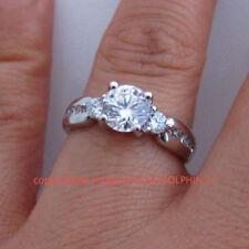 Diamond White Three-Stone Fine Rings