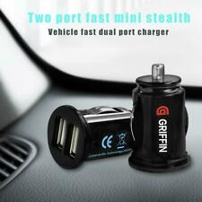 Dual USB Car Charger Mini 12V Lighter Socket Adapter Charging Fast Plug
