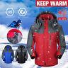Men Winter Hoodie Waterproof Windproof Jacket Snow Coat Rain Warm Ski