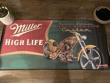 Huge Motorcycle Chopper Banner Kendall Johnson Miller High Life Biker Build Off