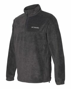 Columbia Sport - Men's Size S-3XL, 4XL Polar FLEECE, Pullover Zip Jacket, steens