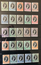 COMMONWEALTH QEII 1953 CORONATION MINT SELECTION of 25 Stamps Antigua to Virgin.