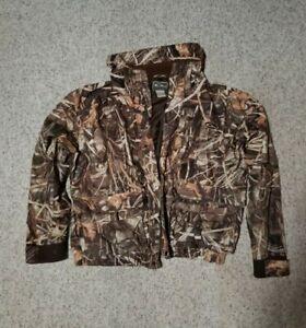 Drake Waterfowl Coat Large Full Zip Advantage Max 4 Waterfowl Duck Hunting Camo