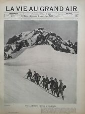 LA VIE AU GRAND AIR 1903 N 226 UNZ ASCENSION D' HIVER A CHAMONIX, AU BELVEDERE