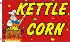 Bouilloire maïs pop VENDEUR enseigne de Boutique Publicité pos 5'X3' DRAPEAU