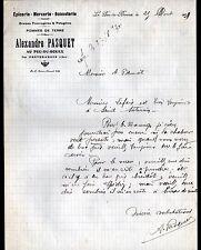 """LE PEU-du-BOUEX / PREVERANGES (18) EPICERIE MERCERIE BONNETERIE """"A PASQUET"""" 1930"""