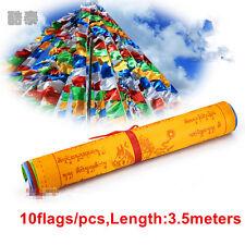 10 Flags Tibetan Buddhist Prayer Flags Contain Decorative Scriptures Tibet 3.5M