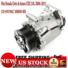 For 2006 2011 Honda Civic Si 20l Coupe And Sedan Ac Compressor Amp Clutch