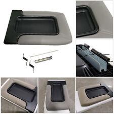 Car Center Console Lid Kit Armrest Cover Pad For Chevrolet Silverado GMC Sierra