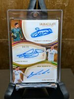 2020 IMMACULATE SOCCER COURTOIS / BALE / MODRIC REAL MADRID TRIPLE AUTO 3/25