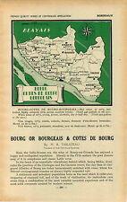 ADVERTISEMENT Vineyard Wine Map Bourg Cotes De Bourgeais Lansac Teuillac Tauriac
