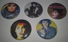 5 Pat Benatar Pin Button Badges 25mm Heart breaker Hit Me With Your Best Shot