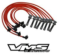 VMS RACING 96-98 FORD MUSTANG GT 10.2MM 10 MM SPARK PLUG WIRE SET 4.6L SOHC RED