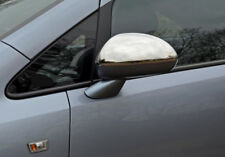Chrome Wing Mirror Trim Set Covers To Fit Vauxhall / Opel Corsa D (2007-14)