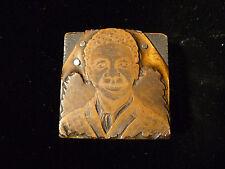AFRICAN AMERICAN BLACK BOY PRINTERS FIGURAL COPPER PRINTING PLATE – CIRCA 1880