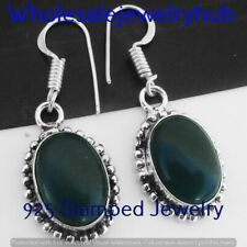 Plated Earring Jewelry Sme-11- 356 Black Onyx Earring 925 Sterling Silver