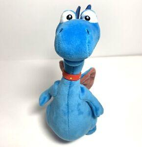 """9"""" Tall Doc McStuffins Stuffy Blue Dragon Stuffed Toy Plush Disney Just Play"""