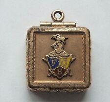 Antique Gold Enamelled Knights of Pythias Victorian Fob Locket