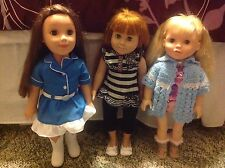 Paradise Kids, FCM Dolls - Lot Of 3 Dolls With Clothes