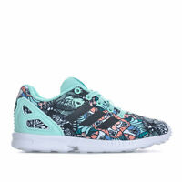 e86427a91f519 Children Girls adidas Originals Zx Flux Trainers In Mint- Lace Fastening-