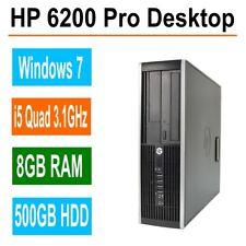 HP 6200 Pro Desktop Computer, 8GB RAM, 500GB, Intel i5 Quad Core 3.1GHz, Win 7