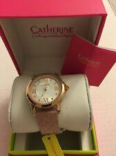 CATHERINE MALANDRINO Wristwatch Watch PINK Roman Numeral CM9901RG264-302 NIB