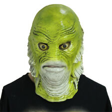 Scary Monster Fish Mask Creature from The Black Lagoon Latex Adult Halloween Cos