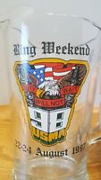 USMA Ring Weekend 1998 Duty Will Not Wait August 22-24 1997 Heavy Glass Pitcher