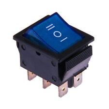 Interruttore a Bilanciere 230V AC 3-posizioni On-Off-On Bipolare Luminoso Blu