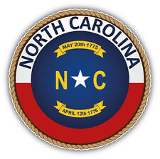 North Carolina USA State Seal Car Bumper Sticker Decal 5'' x 5''