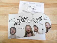 CD Pop Friska Viljor - Hey You (1 Song) Promo HALDERN POP Presskit cb